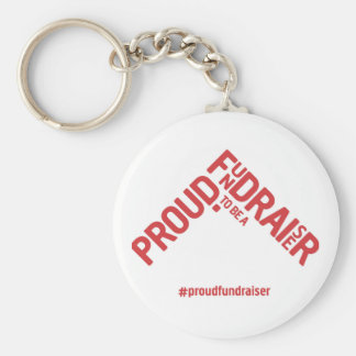 Proud to be a Fundraiser keyring Basic Round Button Key Ring