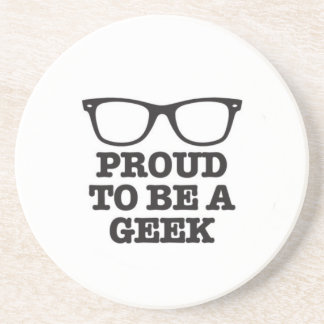 Proud To Be A Geek Beverage Coaster