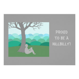 Proud to be a Hillbilly Custom Announcement