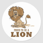 Proud To Be A Lion Classic Round Sticker