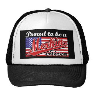 Proud to be a Merkin Citizen Trucker Hats