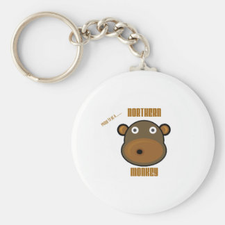 Proud To Be a Northern Monkey Basic Round Button Key Ring