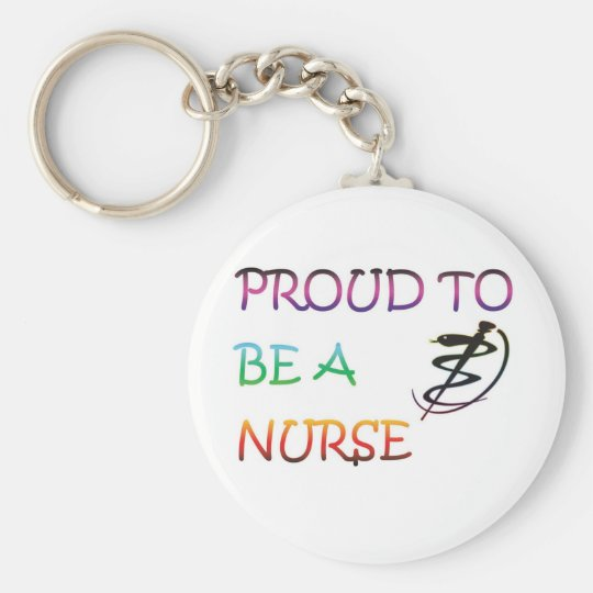 PROUD TO BE A NURSE KEY RING