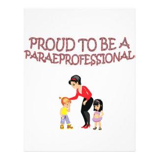PROUD TO BE A PARAPROFESSIONAL 21.5 CM X 28 CM FLYER