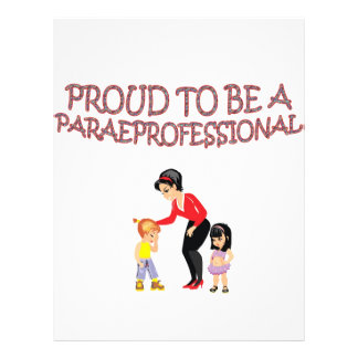 PROUD TO BE A PARAPROFESSIONAL PERSONALIZED FLYER
