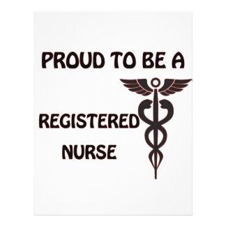 Proud to be a Registered Nurse 21.5 Cm X 28 Cm Flyer