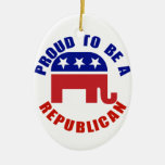 Proud To Be A Republican Original Christmas Tree Ornament