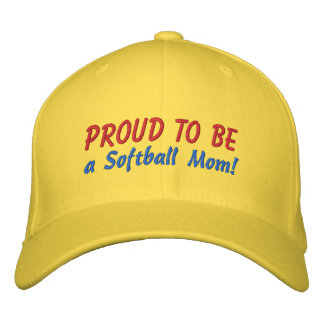 Proud to be a Softball Mom! Volunteer Umpire Embroidered Baseball Cap