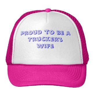 Proud to be a Trucker's Wife Trucker Hats