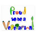 Proud to be a Vegetarian Postcard