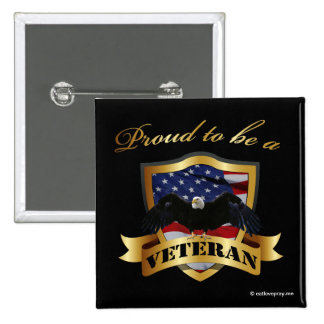 Proud to be a Veteran 15 Cm Square Badge