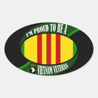 Proud to be a Vietnam Vet Oval Sticker