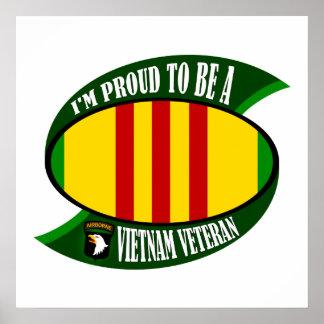 Proud to be a Vietnam Vet Poster