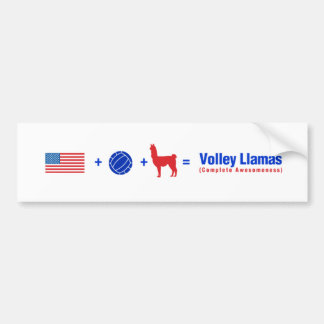 Proud to be a Volley Llama Bumper Sticker