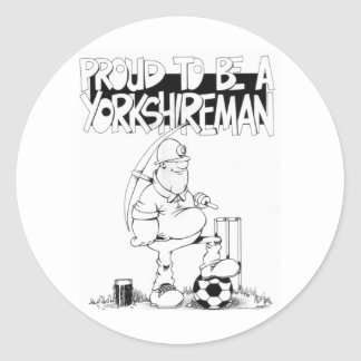 Proud to be a yorkshireman classic round sticker