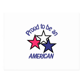 Proud To Be American Postcard