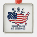 Proud to be an American Christmas Tree Ornaments