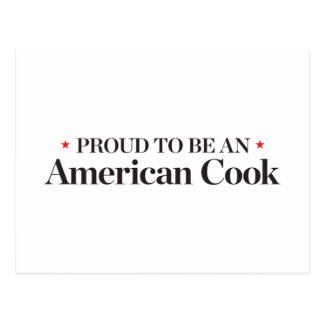 Proud to be an American Cook Postcard