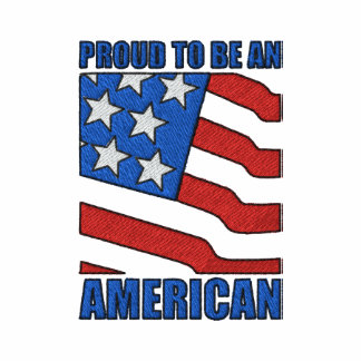 Proud To Be An American Embroidered Shirt