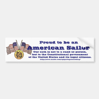 Proud to be an American Sailor Bumper Sticker
