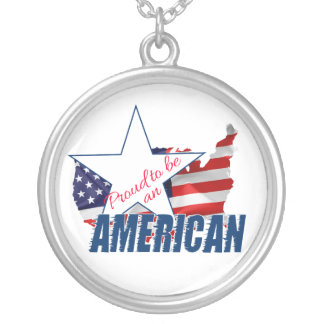 Proud to be an American Silver Plated Necklace