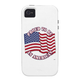Proud To Be An American With USA Flag iPhone 4/4S Covers