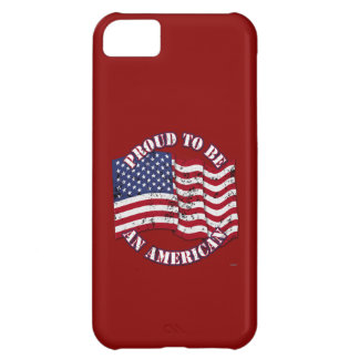 Proud To Be An American With USA Flag distressed Case For iPhone 5C