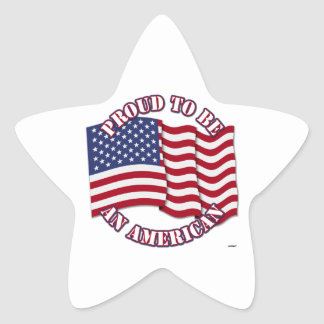 Proud To Be An American With USA Flag Star Stickers