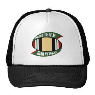 Proud To Be An Iraq Veteran Trucker Hat