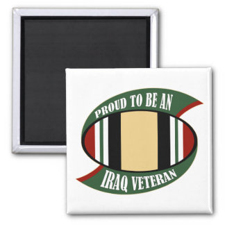 Proud To Be An Iraq Veteran Square Magnet