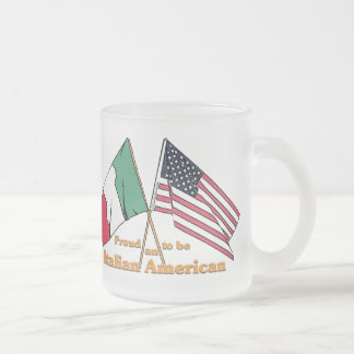 Proud To Be An Italian-American 10 Oz Frosted Glass Coffee Mug