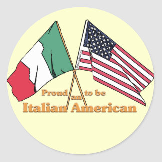 Proud To Be An Italian-American Round Sticker
