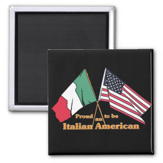 Proud To Be An Italian-American Square Magnet