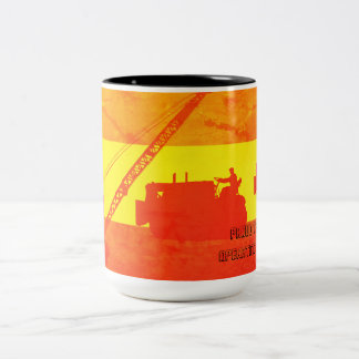 Proud to Be an Operating Engineer Southwest Colors Two-Tone Coffee Mug