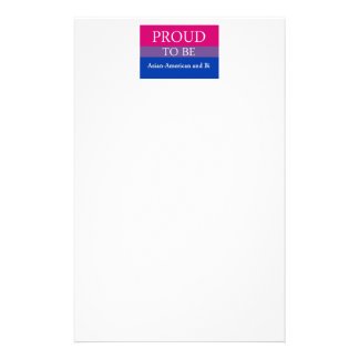 Proud To Be Asian American and Bi Stationery Paper