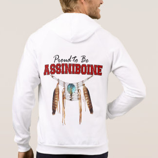 Proud to be Assiniboine Fleece Zip  Hoodie