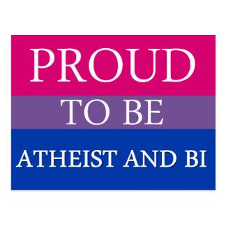 Proud To Be Atheist and Bi Postcard
