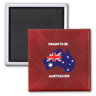 Proud to be Australian Square Magnet
