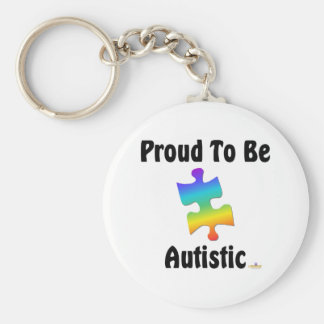 Proud To Be Autistic Basic Round Button Key Ring