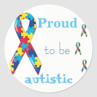 Proud to be autistic sticker