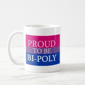 Proud To Be Bi-Poly Basic White Mug