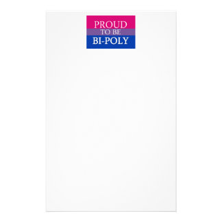 Proud To Be Bi-Poly Personalised Stationery