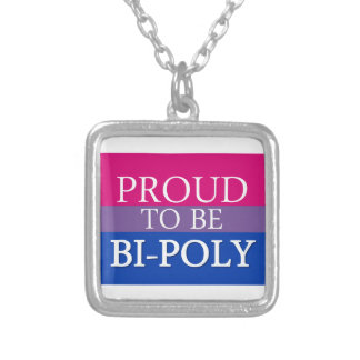 Proud To Be Bi-Poly Silver Plated Necklace
