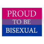 Proud To Be Bisexual Greeting Cards