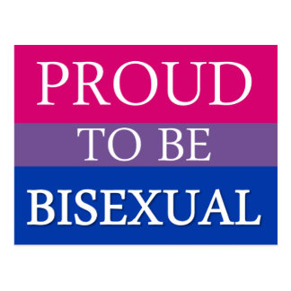 Proud To Be Bisexual Postcard
