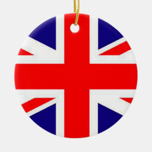 Proud to be Britain Flag Christmas Ornament