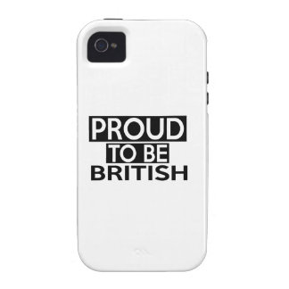 PROUD TO BE BRITISH iPhone 4 CASES