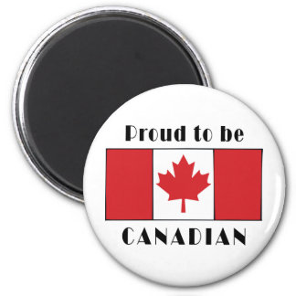 Proud To Be Canadian 6 Cm Round Magnet