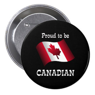 Proud to be Canadian 7.5 Cm Round Badge