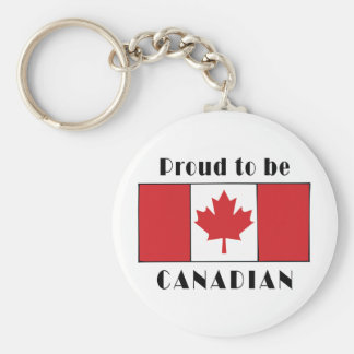 Proud To Be Canadian Basic Round Button Key Ring
